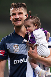 January 26, 2019 - Melbourne, VIC, U.S. - MELBOURNE, AUSTRALIA - JANUARY 26: Melbourne Victory midfielder Terry Antonis (8) smiles on at the Hyundai A-League Round 16 soccer match between Melbourne Victory and Sydney FC on January 26, 2019, at AAMI Park in VIC, Australia. (Photo by Speed Media/Icon Sportswire) (Credit Image: © Speed Media/Icon SMI via ZUMA Press)