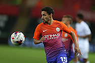 Jesus Navas of Manchester city in action. EFL Cup. 3rd round match, Swansea city v Manchester city at the Liberty Stadium in Swansea, South Wales on Wednesday 21st September 2016.<br /> pic by  Andrew Orchard, Andrew Orchard sports photography.