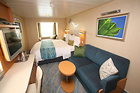 The launch of Royal Caribbean International's Oasis of the Seas, the worlds largest cruise ship..Staterooms.Central Park View stateroom