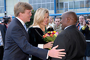 Premiere of Black Pinocchio in the Rai Theathre in Amsterdam. Prince Willem Alexander and Princess Maxima attend this Gala evening of the AMREF Flying Doctors<br />