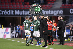 February 10, 2019 - Rennes, France - 23 VALENTIN VADA (ASSE) - REMPLACEMENT - FAIR PLAY (Credit Image: © Panoramic via ZUMA Press)