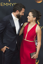September 18, 2016 - Los Angeles, California, U.S. - TOM CULLEN and TATIANA MASLANY arrive for the 68th Annual Primetime Emmy Awards, held at the Nokia Theatre. (Credit Image: © Kevin Sullivan via ZUMA Wire)