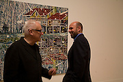 MICHAEL CRAIG-MARTIN AND PETER DOIG, Private view and dinner for the opening of the Peter Doig exhibition. Tate Britain. Millbank. London. 4 February 2008.  *** Local Caption *** -DO NOT ARCHIVE-© Copyright Photograph by Dafydd Jones. 248 Clapham Rd. London SW9 0PZ. Tel 0207 820 0771. www.dafjones.com.