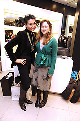 Left to right,  SUNG-JOO KIM ceo of MCM and DIANA DE CABARRUS niece of the Duke of Nortumberland at the MCM Christmas party held at their store at 5 Sloane Street, London on 26th November 2008.