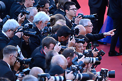General atmosphere with photographers during the Les Fantomes d'Ismael screening and opening ceremony held at the Palais Des Festivals in Cannes, France on May 17, 2017, as part of the 70th Cannes Film Festival. Photo by Aurore Marechal/ABACAPRESS.COM