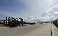 A ceremony was held on this bridge fro Ron Oskar who served on an Army base near here during the war.  Cam Ranh Bay, Vietnam.  (Laura Fong Torchia/Special to the Akron Beacon Journal)