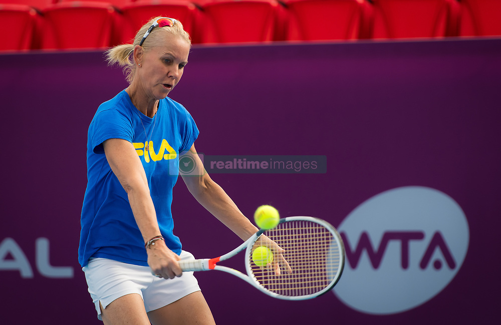 February 11, 2019 - Doha, Spain - Rennae Stubbs during practice ahead of the 2019 Qatar Total Open WTA Premier tennis tournament (Credit Image: © AFP7 via ZUMA Wire)
