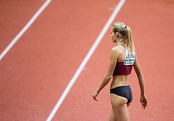 Darya Klishina of Russia during the Long Jump Women Qualification on day two of the 2017 European Athletics Indoor Championships at the Kombank Arena on March 4, 2017 in Belgrade, Serbia. Photo by Vid Ponikvar / Sportida