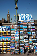 Postcards for sale at Westminster near the Houses of Parliament. London.