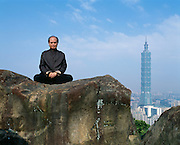 CY Lee of CY Lee & Partners. Architects of Taipei 101, the new world's tallest building at 508 meters  whose design reflects the nature of bamboo and embraces feng shui design and the Chinese lucky number 8 with eight separate pods of floors and eight autonomous floors within in each pod.