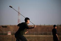 May 3, 2019 - Gaza, Palestine - 'Great March of Return' demonstrations on the Israel-Gaza border near Jabalia Refugee Camp. (Credit Image: © Ramez Habboub/Pacific Press via ZUMA Wire)
