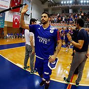 Anadolu Efes's Dogus Balbay during their Turkish Basketball Super League match Istanbul BBSK between Anadolu Efes at Cebeci Arena in Istanbul Turkey on Sunday 29 November 2015. Photo by Aykut AKICI/TURKPIX