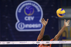 Delano Thomas of ACH Volley at volleyball match of CEV Indesit Champions League Men 2008/2009 between ACH Volley Bled (SLO) and Beauvais Oise (FRA), on December 11, 2008 in Hala Tivoli, Ljubljana, Slovenia. (Photo by Vid Ponikvar / Sportida)