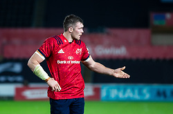 Peter O'Mahony of Munster <br /> <br /> Photographer Simon King/Replay Images<br /> <br /> European Rugby Champions Cup Round 1 - Ospreys v Munster - Saturday 16th November 2019 - Liberty Stadium - Swansea<br /> <br /> World Copyright © Replay Images . All rights reserved. info@replayimages.co.uk - http://replayimages.co.uk