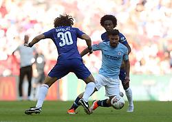 Manchester City'€™s Sergio Aguero in action