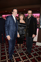 Left to right, PERCY GIBSON, JOAN COLLINS and TOM FORD at a party to celebrate the publication of 'Passion for Life' by Joan Collins held at No41 The Westbury Hotel, Mayfair, London on21st October 2013.