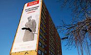 Wielki baner poświęcony Zygmunt Szendzielarzowi ps Lupaszko zawisł na bloku w Białymstoku