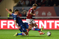 Bristol City's Matt Taylor (right) scores his side's second goal of the game during the Carabao Cup, third round match at Ashton Gate Stadium, Bristol.