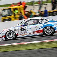 #124, Porsche 997 GT3 Cup S, Muehlner Motorsport, driven by: Duncan Huisman (NL)/Ian Khan (GB)/Paul van Splunteren (NL)/Roeland Voerman (NL), at the Spa 24H, 2008