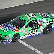 NASCAR Sprint Cup driver Danica Patrick (10) drives down pit lane after she wrecked crossing the finish line during the NASCAR Coke Zero 400 Sprint series auto race at the Daytona International Speedway on Saturday, July 6, 2013 in Daytona Beach, Florida.  (AP Photo/Alex Menendez)