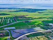 Nederland, Noord-Holland, Purmerend, 07-05-2021; Solar Park Purmerend, gezien naar de Zeevang (buurtschap Axwijk en dorp Middelie)<br /> <br /> luchtfoto (toeslag op standaard tarieven);<br /> aerial photo (additional fee required)<br /> copyright © 2021 foto/photo Siebe Swart.