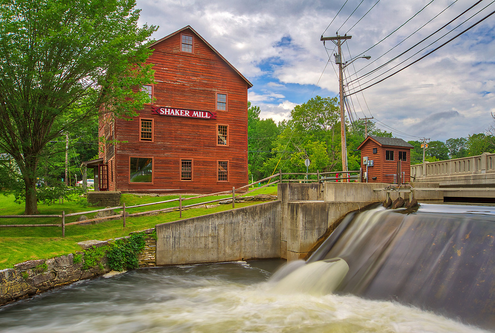 Shaker Mill and dam in West Stockbridge at the picturesque Berkshires of Western Massachusetts, Berkshire County.<br /> <br /> Berkshires Shaker Mill photography images are available as museum quality photo, canvas, acrylic, wood or metal prints. Wall art prints may be framed and matted to the individual liking and New England interior design projects decoration needs.<br /> <br /> Good light and happy photo making!<br /> <br /> My best,<br /> <br /> Juergen