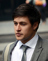 Tony Discipline EastEnders star arrives at Southwark Crown Court today where he is appearing on assault and GBH charges. He plays Tyler Moon in the EastEnders soap opera on BBC.He arrived with family members believed to be his parents, Tuesday August 14, 2012. Pic by Gavin Rodgers/i-Images