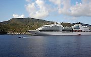 Italy, Sicily, Seabourn Quest in the Taormina bay