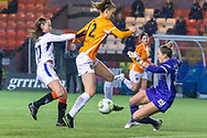 Lee Alexander (#29) of Glasgow City FC comes out to clear the ball during the Scottish Building Society Womens Premier League match between Glasgow City Women and Rangers Women at Broadwood Stadium, Glasgow, Scotland on 13 December 2020.