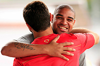 20090515: RIO DE JANEIRO, BRAZIL - Brazilian football star Adriano training with his new team Flamengo, at Gavea Training Center. PHOTO: CITYFILES