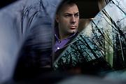 Varese, Riccardo Bossi, filgio del leader leghista Umberto. Pilota di rally.Riccardo Bossi, rally driver, son of the italian Lega Party leader Umberto Bossi