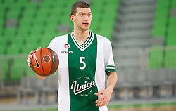 Djordje Micic of Union Olimpija during basketball match between KK Union Olimpija and Unics Kazan (RUS) of 10th Round in Group D of Regular season of Euroleague 2011/2012 on December 21, 2011, in Arena Stozice, Ljubljana, Slovenia. (Photo by Vid Ponikvar / Sportida)