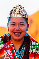 2012-2013 Miss Ramah Navajo Queen Alycia Nabours at the Red Rock Balloon Rally, Red Rock State Park, Gallup, New Mexico USA.
