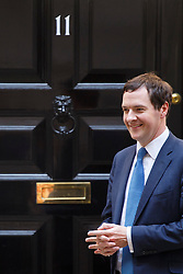 © licensed to London News Pictures. London, UK 30/04/2014. Chancellor of the Exchequer George Osborne in Downing Street, London on Wednesday, 30 April 2014. Photo credit: Tolga Akmen/LNP
