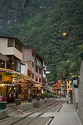 Street view of Machu Picchu town, Cusco Region, Urubamba Province, Machupicchu District in Peru, South America