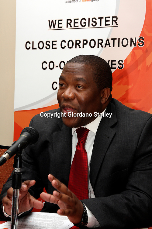 PRETORIA - 16 Setember 2010 - Lungile Dukwana, the acting chief executive of the Companies and Intellectual Property Registration Office (Cipro) outlines security measures to be taken to prevent the unauthorised changing of company directors. The measures follow an incident where a company Kalahari Resources found that it's directors had been removed. All companies in South Africa have to register with Cipro..Picture: APP/Allied Picture Press