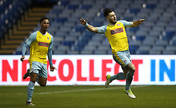 Rotherham United's Richie Towell (right) celebrates scoring their second goal of the match