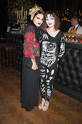 Left to right, PRINCESS JULIA and CLAIRE BARROW at the Veuve Clicquot Widow Series launch party hosted by Nick Knight and Jo Thornton MD Moet Hennessy UK held at The College, Central St.Martins, 12-42 Southampton Row, London on 29th October 2015.