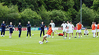 Photo: Chris Ratcliffe.<br />England training session. 06/06/2006.<br />England finally practices penalties as Joe Cole strikes, as England's warm up begins in the mountains of the Black Forest in Buhlertal.
