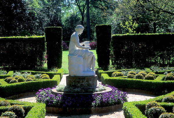 Stock photo of the Bayou Bend Gardens statue