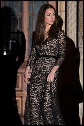 The Duke and Duchess of Cambridge leave after seeing the screening of David Attenborough's Natural History Museum Alive 3D at the Natural History Museum in London, Wednesday, 11th December 2013. Picture by Andrew Parsons / i-Images