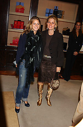 Left to right,  LADY FORTE and her daughter MISS LYDIA FORTE  at a party to celebrate the launch of The Monneypenny Diaries at Smythson, 40 New Bond Street, London W1 on 4th October 2005.<br /><br />NON EXCLUSIVE - WORLD RIGHTS