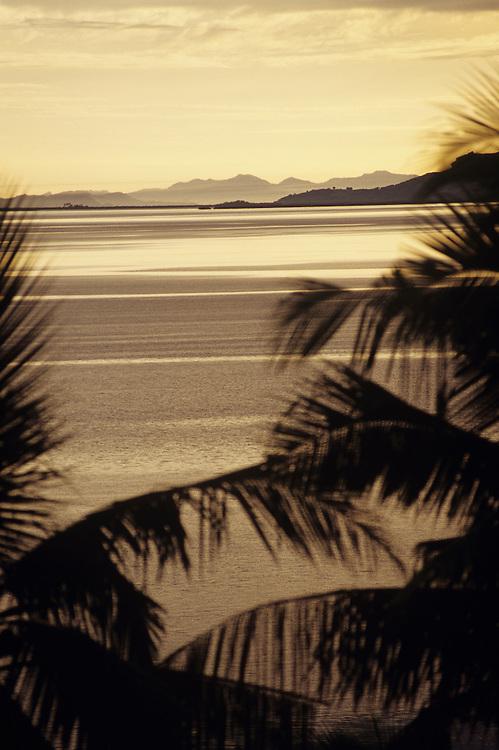 Fiji Islands, Nukubati Island Resort, sunrise view