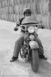 Carl Olsen on his 1936 Harley-Davidson Knucklehead during Stage 13 (257 miles) of the Motorcycle Cannonball Cross-Country Endurance Run, which on this day ran from Elko, NV to Meridian, Idaho, USA. Thursday, September 18, 2014.  Photography ©2014 Michael Lichter.