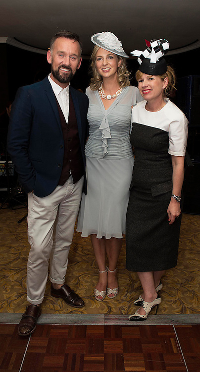 31/07/2014 There was an excellent turnout of fashionable ladies at Hotel Meyrick for their Most Stylish Lady Competition, judged by two of Ireland's leading fashion commentators Sonya Lennon and Brendan Courtney. This year the prize went to Tipperary Racegoer Irene Duff who wore a blue dress from the Sangria label while her head piece was bought at the Galway Races last year from Milliner Niav Riley.<br />  Picture:Andrew Downes