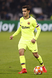 February 20, 2019 - Lyon, France - Philippe Coutinho during the UEFA Champions League round of 16 first leg football match between Lyon (OL) and FC Barcelona on February 19, 2019, at the Groupama Stadium in Decines-Charpieu, central-eastern France. (Credit Image: © Mehdi Taamallah/NurPhoto via ZUMA Press)