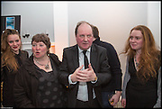 FLORA NAUGHTIE; ELEANOR UPDALE; JAMES NAUGHTIE; ANDREW NAUGHTIE; CATHERINE NAUGHTIE, James Naughtie: The Madness of July published by Head of Zeus - book launch party, ICA, London. 25 February 2014.