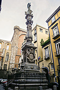 The spire of the Cattedrale di San Gennaro in Naples, southern Italy.