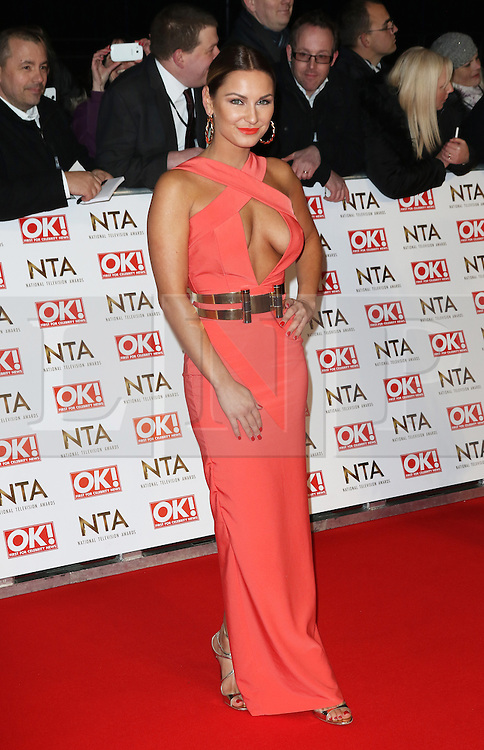 © Licensed to London News Pictures. 21/01/2015, UK. Sam Faiers, National Television Awards, The O2, London UK, 21 January 2015. Photo credit : Richard Goldschmidt/Piqtured/LNP