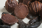 Handmade dark chocolate truffles
